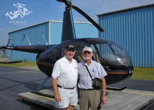 Pilot Ron Carroll with student Sonny Perdue.