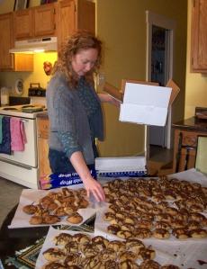 Lindsay making some dough!