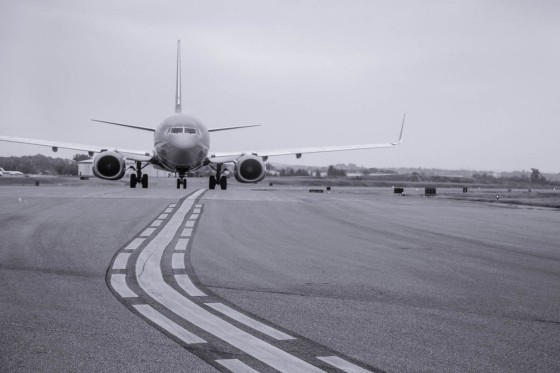 Photo of a plane on a runway by Aerial Innovations of TN.