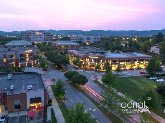 Twilight aerial photography by Aerial Innovations of TN.